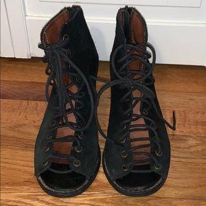 Jeffrey Campbell Lace Up heel